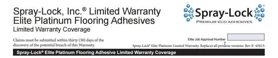 spray lock elite warranty